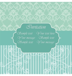 Vintage Invitation with floral ornaments vector