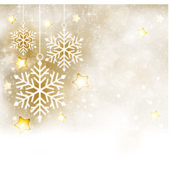 White golden winter christmas background with vector