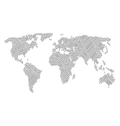 worldwide map pattern of abstract man icons vector image