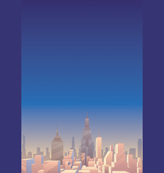 cityscape vertical 3 vector image