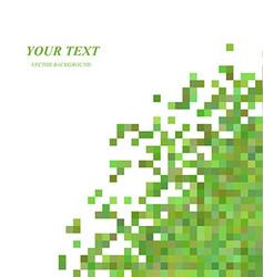 Green pixel square pattern background design vector image vector image