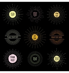 Hand draw doodle sunbursts with place for text vector image