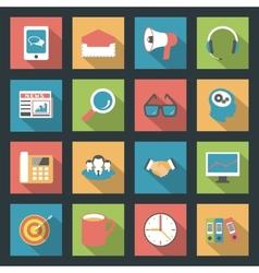 Marketing flat icons set vector image vector image