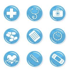 Medical pills icon set vector image