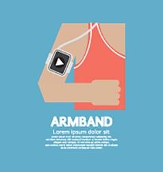 Runner Man Wearing Smartphone Armband vector image