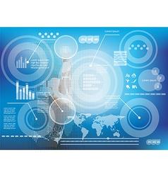 Businessman pressing business diagram vector image vector image
