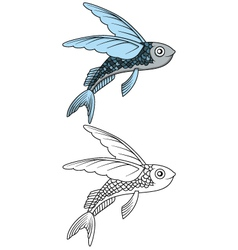 flying fish for you design vector image vector image