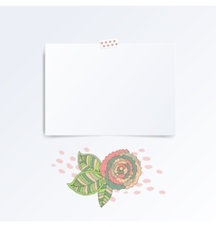 Mosk up template of empty greeting card vector image vector image