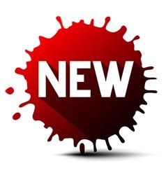 New Title on Red Splash - Blot vector image vector image