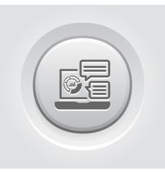 Store Analytics Icon Grey Button Design vector image vector image