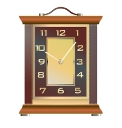 Vintage table clock on a white background vector image