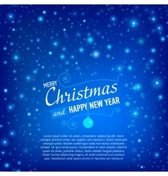 Christmas and Happy New Year Card with snowfall vector image