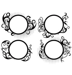 Circle floral frame decoration vector image vector image