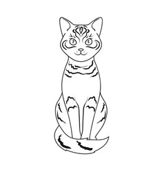 gray catanimals single icon in outline style vector image vector image