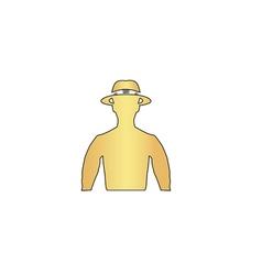macho computer symbol vector image vector image