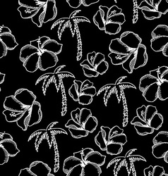 Seamless pattern background tropical summer vector image vector image