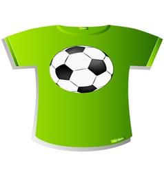 T-Shirt Design Soccer ball vector image vector image