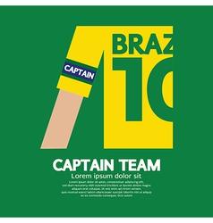 Brazil captain soccerfootball team vector
