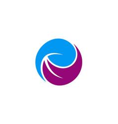 circle abstract beauty logo vector image