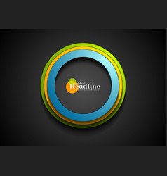 colorful corporate circles logo background vector image vector image