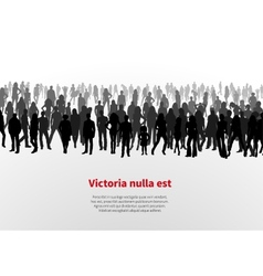 Large group of people background vector image