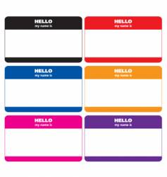 name tags vector image vector image