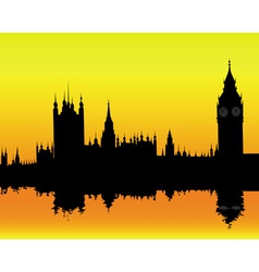 silhouette of the London landscape vector image vector image