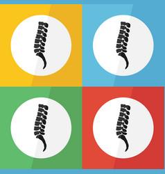 spine icon flat design vector image