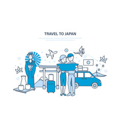 travel to japan vacation acquainted with culture vector image vector image