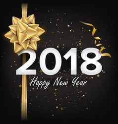 2018 happy new year christmas greeting vector image