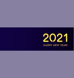2021 happy new year long banner golden vector