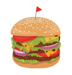 a hamburger stylized fast vector image