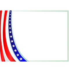 Abstract american flag frame background vector