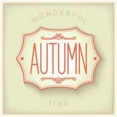 Autumn vintage plate vector image