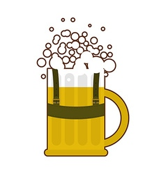 Beer mug in traditional Bavarian national costume vector