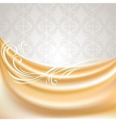beige silk curtain vector image