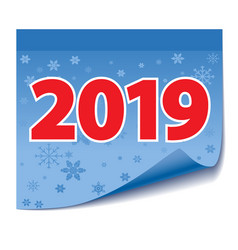 blue sticky tape note with date new year vector image