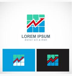 Business arrow progress logo vector
