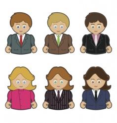 business men and women vector image