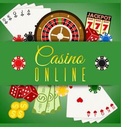 casino online banner includes vector image