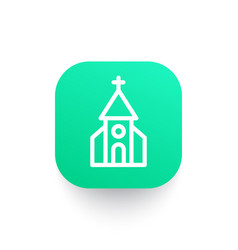 church icon in linear style vector image