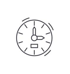 clock line icon concept clock linear vector image