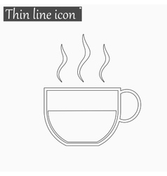 Coffee cup icon Style thin line vector image