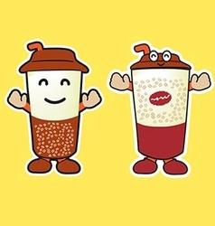 Coffee Mug Mascot Cartoon vector