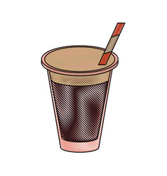 cola soda cup vector image