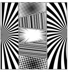 comic black and white concept vector image