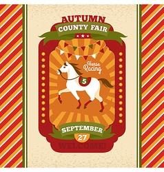 County fair vintage invitation card vector