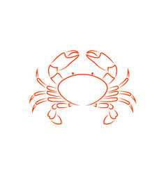 crab outline vector image