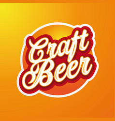 craft beer sign label lettering vector image