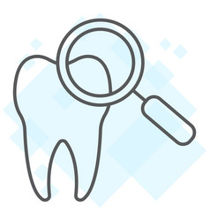 dental check up thin line icon stomatology vector image